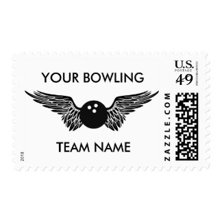 customizable bowling team postage