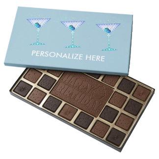 CUSTOMIZABLE BOX OF CHOCOLATES, BLUE MARTINI