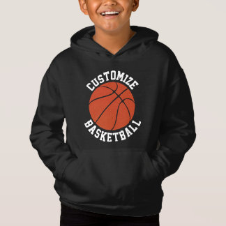 Customizable Boys Basketball Hoodie Sweatshirt