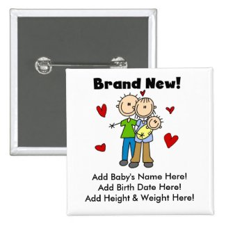 Customizable Brand New Baby Button