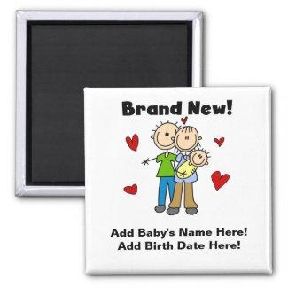 Customizable Brand New Baby Magnet