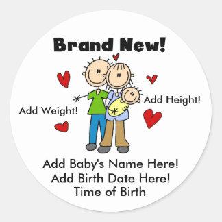 Customizable Brand New Baby  Stickers
