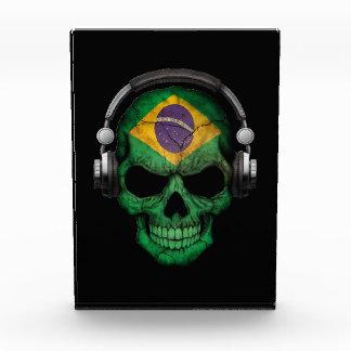 Customizable Brazilian Dj Skull with Headphones Award