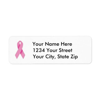 Customizable Breast Cancer Awareness Address Label