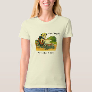 Customizable Bridal Party Shower Organic T-Shirt