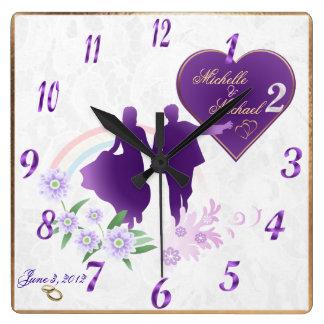 Customizable Bride and Groom Keepsake Wall Clock