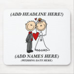 Customizable Bride And Groom Mousepad