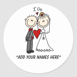 Customizable Bride and Groom Stickers