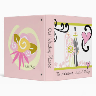 Customizable Bride and Groom Wedding Photo Binder