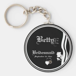 Customizable Bridesmaid Keepsake Keychain