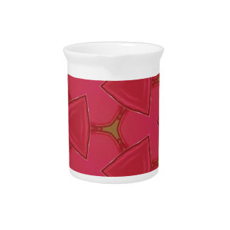 Customizable Bright Rose Abstract Beverage Pitcher