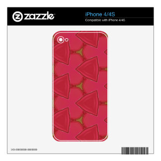 Customizable Bright Rose Abstract iPhone 4S Skin