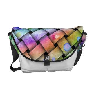 Customizable BRIGHT WEAVE MESSENGER BAG