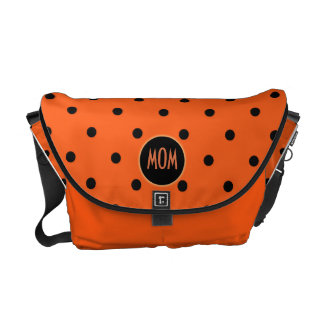 Customizable Brilliant Orange Handbag Messenger Bag