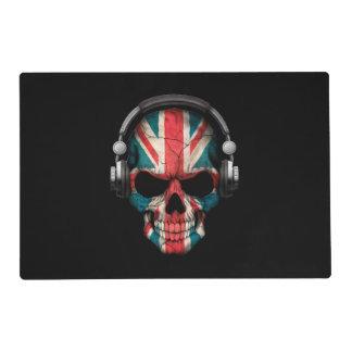Customizable British Dj Skull with Headphones Placemat