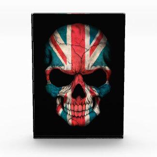 Customizable British Flag Skull Acrylic Award