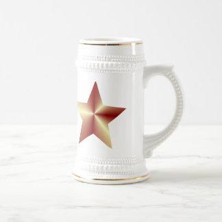 Customizable Bronze Star Beer Stein