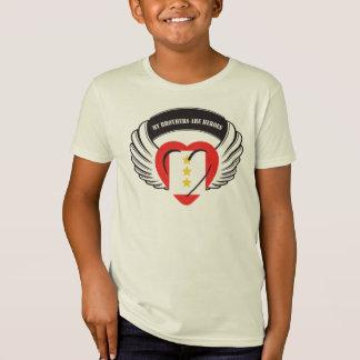 Customizable Brother Flying Heart 3 Yellow Stars T-Shirt