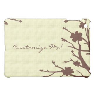 Customizable brown floral theme ipad case