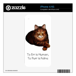 Customizable Brown Tabby Cat Zazzle Skin Skin For The iPhone 4S