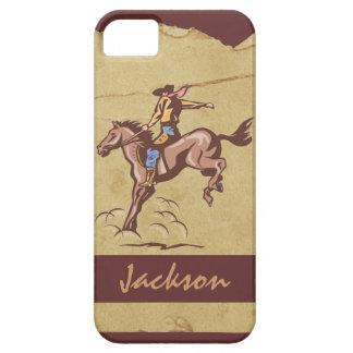 Customizable bucking horseback rider iphone 5 case