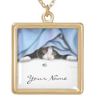 Customizable Bug Hunter Cat Necklace