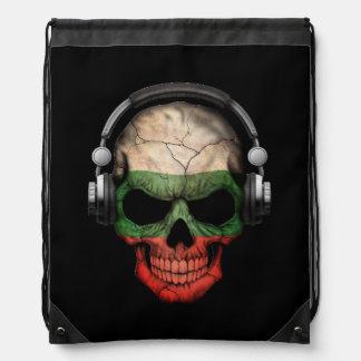 Customizable Bulgarian Dj Skull with Headphones Backpack