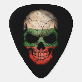 Customizable Bulgarian Flag Skull Guitar Pick