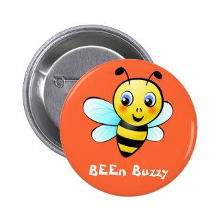Customizable Bumblebee Cartoon Pinback Button