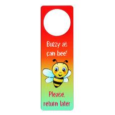 Customizable Bumblebee Door Hanger