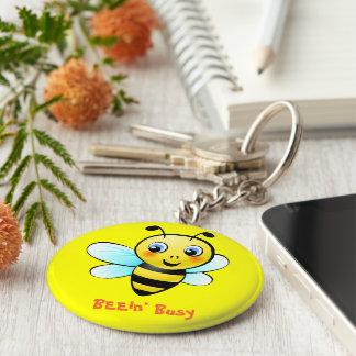 Customizable Bumblebee Basic Round Button Keychain