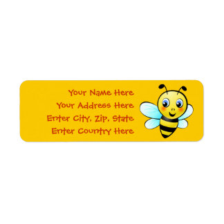 Customizable Bumblebee Label