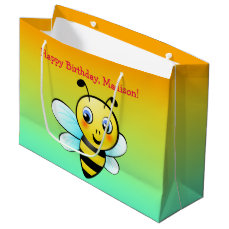 Customizable Bumblebee Large Gift Bag