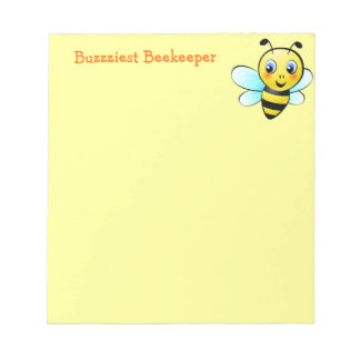 Customizable Bumblebee Note Pad