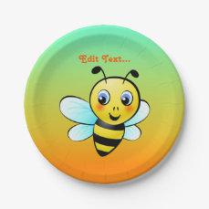 Customizable Bumblebee Paper Plate