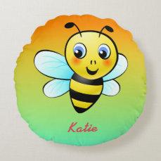 Customizable Bumblebee Round Pillow