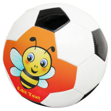 Customizable Bumblebee Soccer Ball