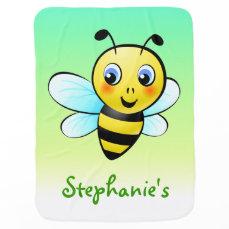 Customizable Bumblebee Stroller Blanket