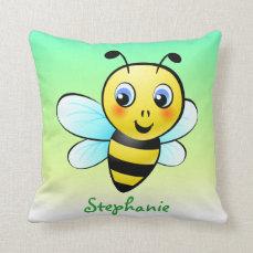 Customizable Bumblebee Throw Pillow