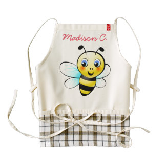 Customizable Bumblebee Zazzle HEART Apron
