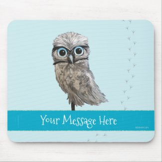 Customizable Burrowing Owl Coastal Art