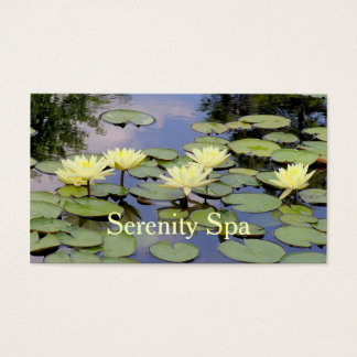 CUSTOMIZABLE BUS.CARD/6 PALE YELLOW LOTUS BLOSSOMS BUSINESS CARD