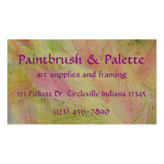 CUSTOMIZABLE BUS.CARD/ABSTRACT/PINKS/LT.GREENS/YEL BUSINESS CARD