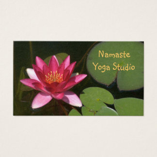 CUSTOMIZABLE BUS.CARD./DEEP ROSE-COLORED LOTUS BLO BUSINESS CARD