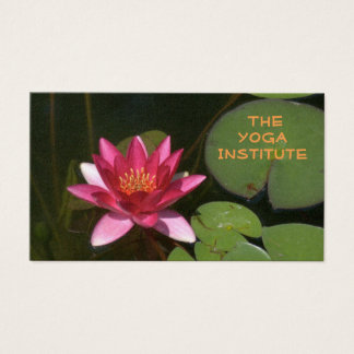 CUSTOMIZABLE BUS.CARD/DEEP ROSE-COLORED LOTUS BLOS BUSINESS CARD