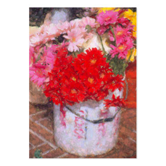 CUSTOMIZABLE BUS.CARD/FLOWERS IN PAINT-STAINED BUC LARGE BUSINESS CARD