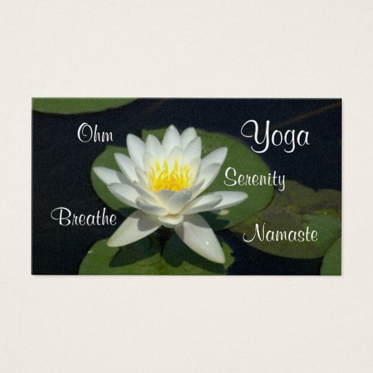 CUSTOMIZABLE BUS.CARD/WHITE LOTUS BLOSSOM. BUSINESS CARD