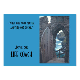 CUSTOMIZABLE BUS.CARDS/ WHEN ONE DOOR CLOSES ANOTH LARGE BUSINESS CARD