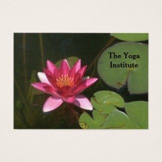 CUSTOMIZABLE BUS. CD/PINK LOTUS BLOSSOM/LILY PADS BUSINESS CARD