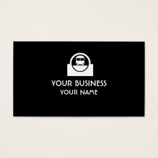 Customizable bus transit symbol business cards